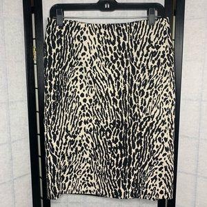 Talbots animal print straight skirt. Size 4